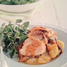Baked Mustard Pork With Caramelised Apple
