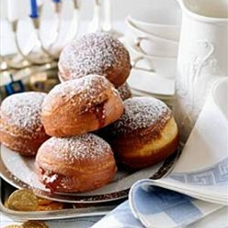 Baked Sufganiyot (Jelly Doughnuts)