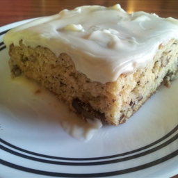 Banana Cake with Caramel Cream Cheese Frosting