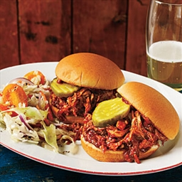 Barbecue Pulled Chicken Sliders