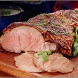 Barbequed Butterflied Leg of Lamb