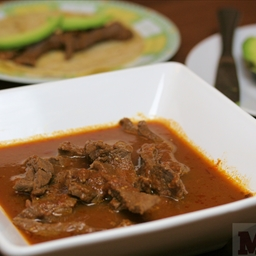 Mexican Beef and beer stew (Molli Morelos Cooking Sauce)
