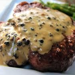 Beef Steaks with Peppercorn Sauce