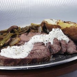 Beef Tenderloin with Garlic Horseradish Cream