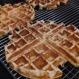 Belgian Waffles ( 1 serving = 1/2 Waffle)