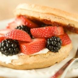 Berry Waffle Breakfast Sandwich