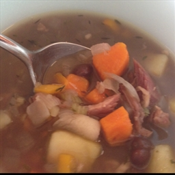 Black Bean, Potato and Ham Soup