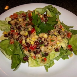 Black Bean, Red Pepper, Corn, and Quinoa Salad