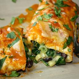 Black Bean Spinach Enchilads