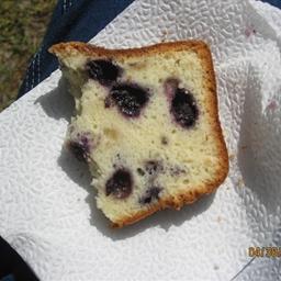 Blueberry Sour Cream Pound Cake