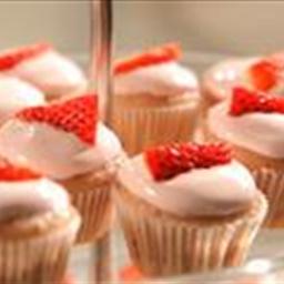 Blushing Strawberry Cupcakes