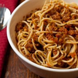 Bolognese sauce with lentils