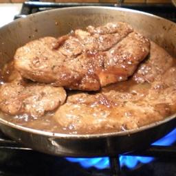 Boneless Pork Loin Chops with Onion Marmalade