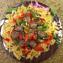 Bow Ties with Sausage and Peppers