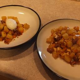 Breakfast Potatoes with Chorizo