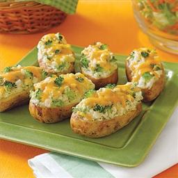 Broccoli and Cheese Stuffed Baked Potato