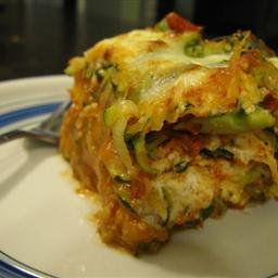 Broccoli, Squash and Three-Cheese Lasagna