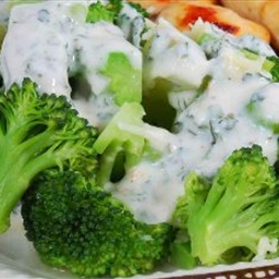 Broccoli with Creamy Herb Sauce