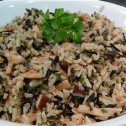 Brown- And Wild-Rice Pilaf with Porcini And Parsley