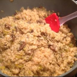 Brown Rice with Baby Bella Mushrooms