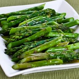 Brown sugar & Soy Asparagus