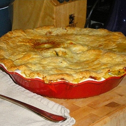 Butternut and Chicken Pie