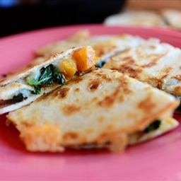 Butternut Squash & Kale Quesadillas