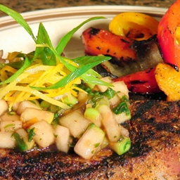 Cajun Spiced Pork Chops w/ Cranberry-Apple Chutney