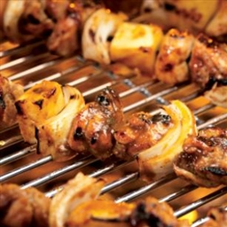 Caribbean Chicken  and  Pineapple Kebabs