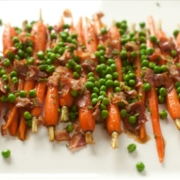 Carrots with Peas and Pancetta