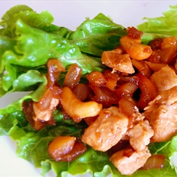 Cashew Chicken Lettuce Wraps (Like PF Chang's)