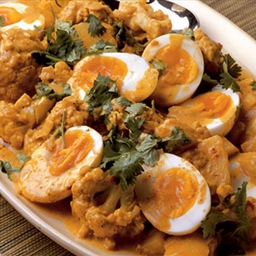 Cauliflower, egg and potato curry