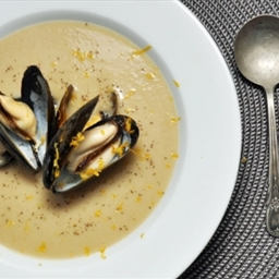 Celery Root, Celery Seed, and Mussel Bisque