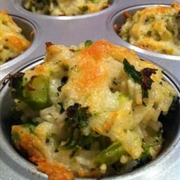 Cheddar Broccoli Rice Cups