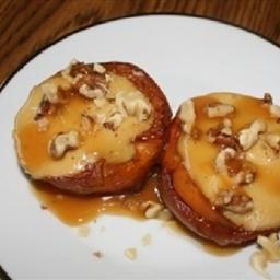 Cheesecake Stuffed Peaches