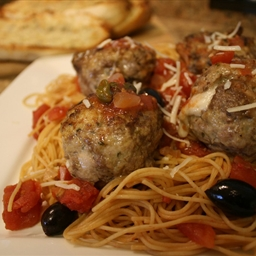 Cheesy Spaghetti and Meatballs