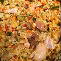 Chicken and Rice Casserole with Summer Vegetables