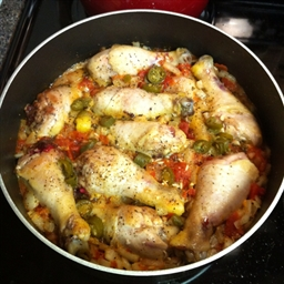 Chicken and Rice Dinner in a Skillet
