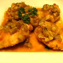 Chicken Braised with Leeks and Figs