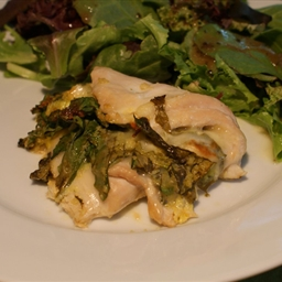 Chicken Breasts Stuffed w/ Spinach and Provalone