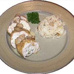 Chicken Breasts Stuffed with Goat Cheese And Basil