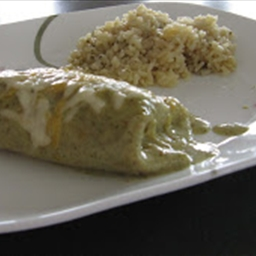 Food Nanny's Chicken Burritos with Salsa Verde and Lime