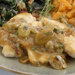 Chicken Cutlets with Grape-Shallot Sauce