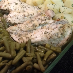 Chicken, Green Bean and Potato Casserole
