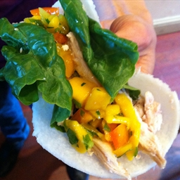 Chicken Mango Tacos