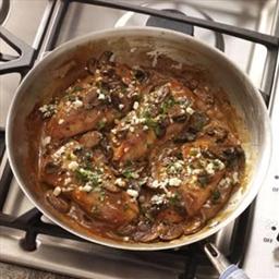 Chicken Marsala with Gorgonzola