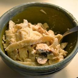 Chicken & Mushroom Pasta Alfredo