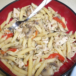Chicken, Mushrooms, and Peppers Pasta