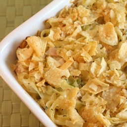 Chicken Noodle Cheese Casserole
