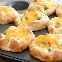 Chicken Pot Pie Puffs